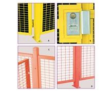 HIGH SECURITY WIRE PARTITION SYSTEM: INSTALLATION COMPONENTS